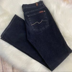 7 For All Mankind Blue Bootcut Corduroys